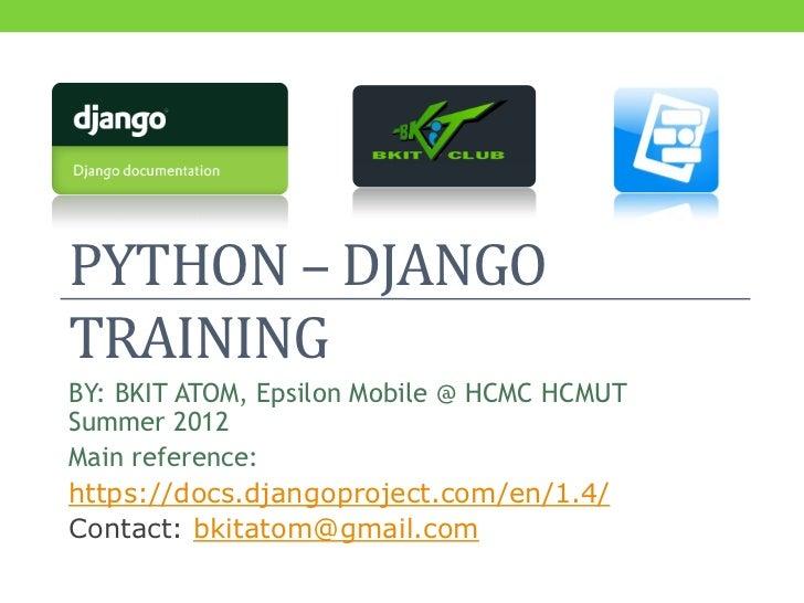 Python/Django Training