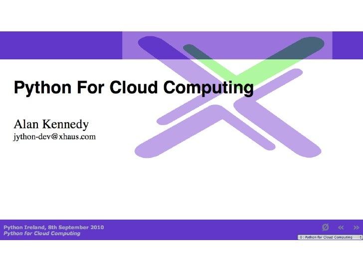 Python for cloud computing