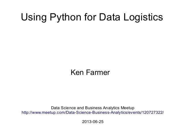 Python for Data Logistics