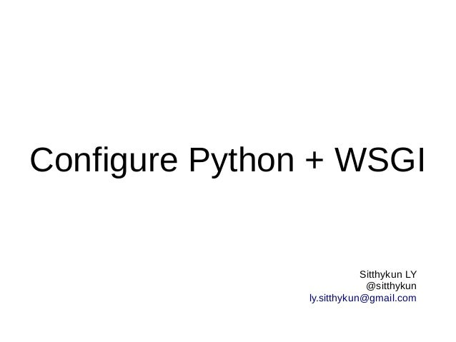 Configure python and wsgi