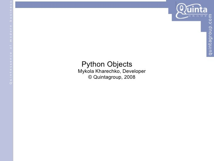 Python Objects