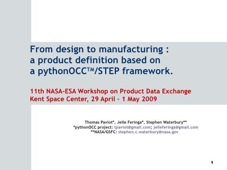 pythonOCC PDE2009 presentation