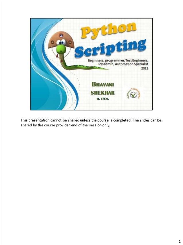 Python Orientation