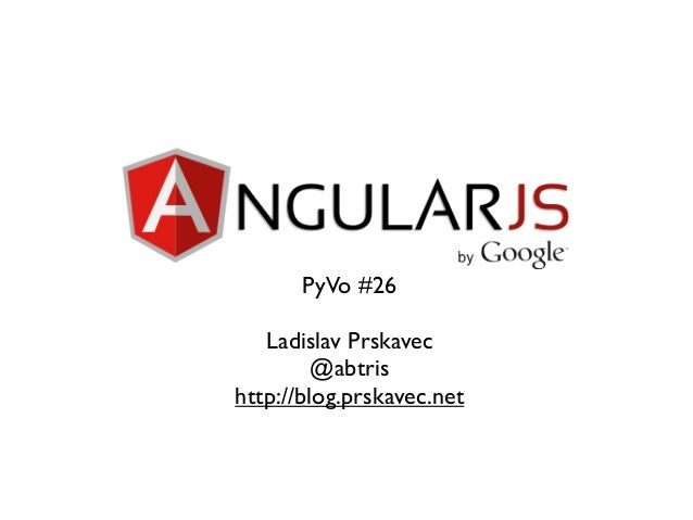 AngularJS at PyVo