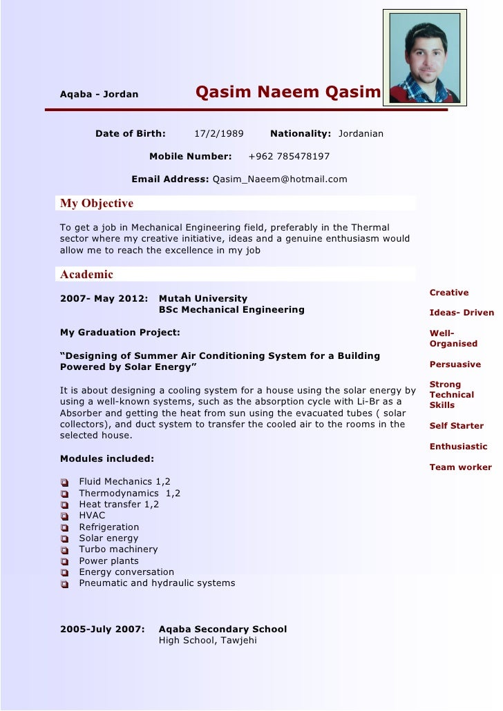 best mechanical engineer resumes - Template