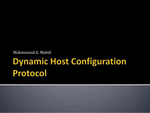 Lesson 6: Dynamic Host Configuration Protocol B