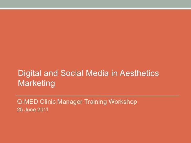 Digital and Social Media in Aesthetics Marketing