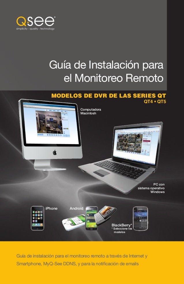 Q see qt series remote monitoring set up guide - spanish