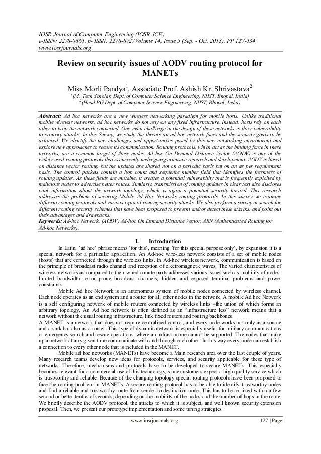 IOSR Journal of Computer Engineering (IOSR-JCE) e-ISSN: 2278-0661, p- ISSN: 2278-8727Volume 14, Issue 5 (Sep. - Oct. 2013)...