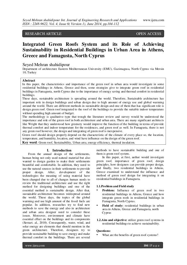 Seyed Mehran shahidipour Int. Journal of Engineering Research and Applications www.ijera.com  ISSN : 2248-9622, Vol. 4, Is...