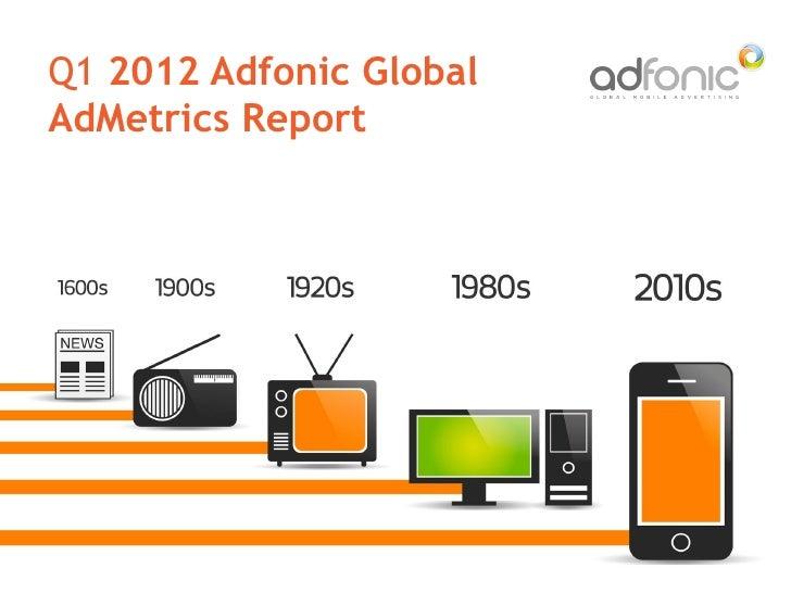 Q1 2012 Adfonic GlobalAdMetrics Report