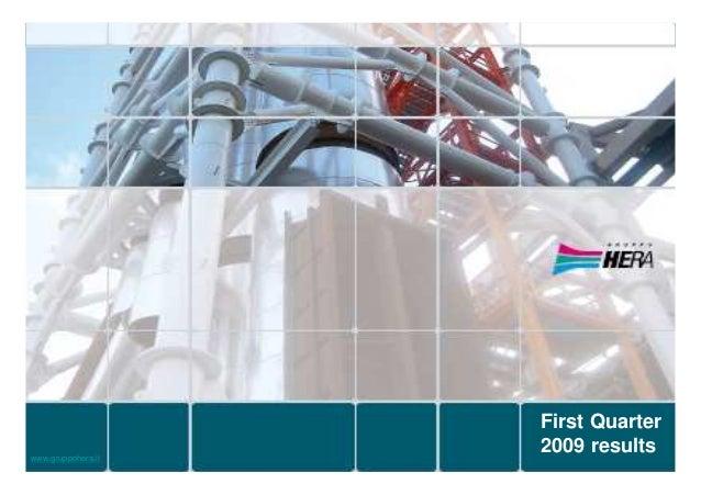 Analyst presentation: 1Q 2009 Results