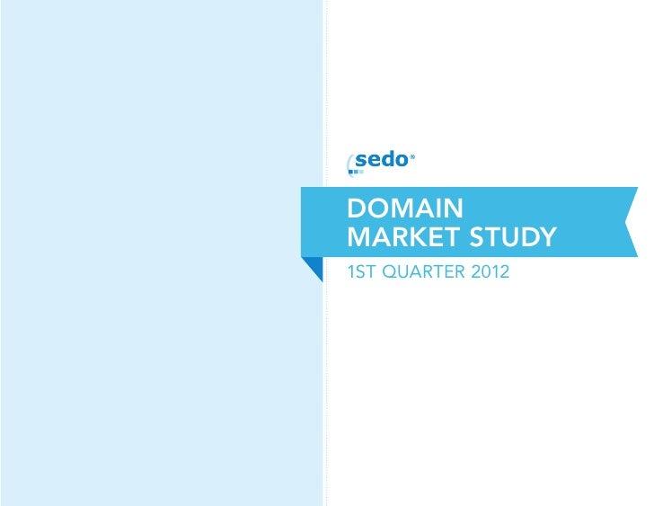 2012 Q1 Sedo Domain Market Study