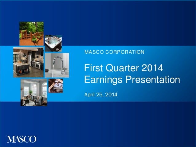 Q1 2014 earnings presentation