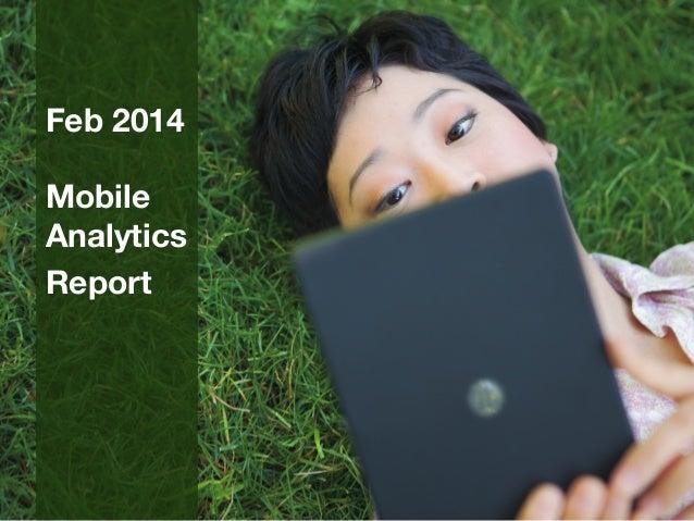 February 2014 mobile analytics report