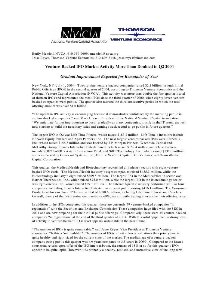 Q2 '04 IPO Activity