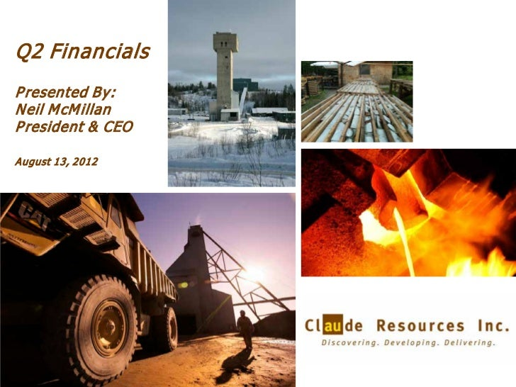 Q2 2012 Conference Call and Webcast Presentation