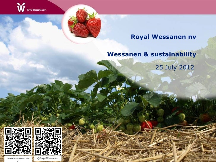 Wessanen Q2 2012 sustainability
