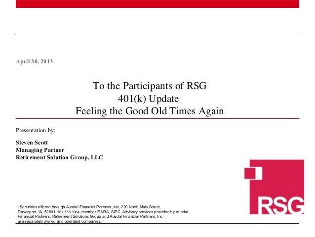 Q2 2013 participant review