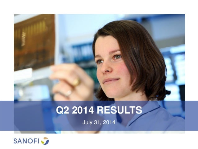Q2 2014 Results by Sanofi