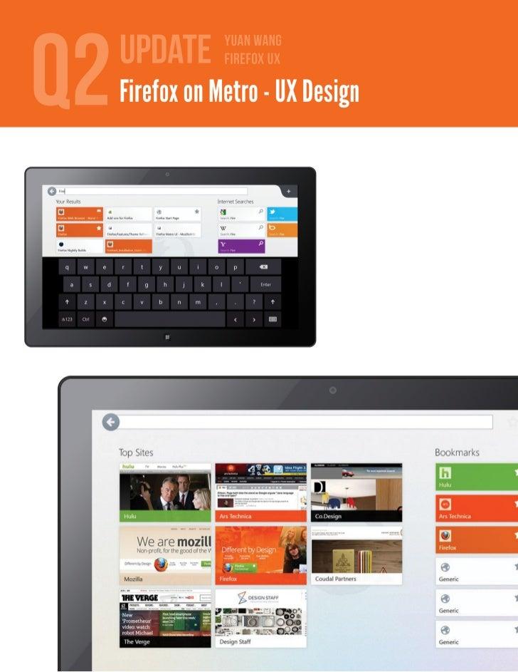 Q2 Firefox on Metro UX Update