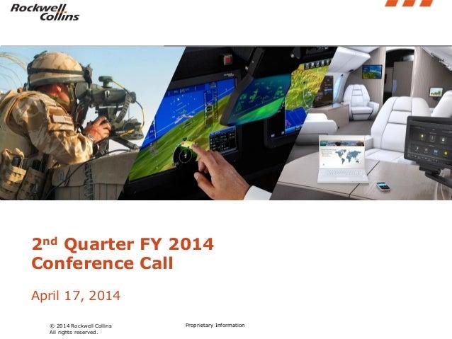 Q2 fy14 quarterly earnings presentation