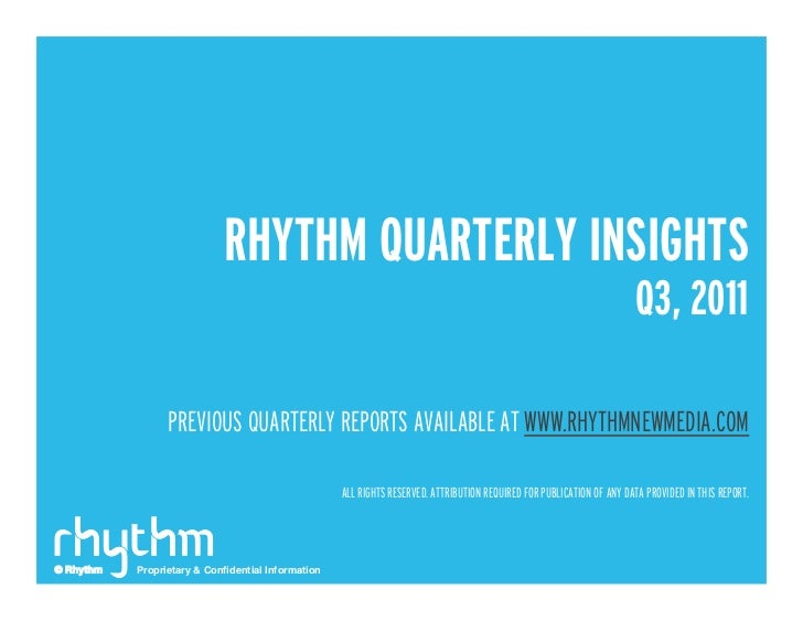 Q3 2011 Rhythm Insights