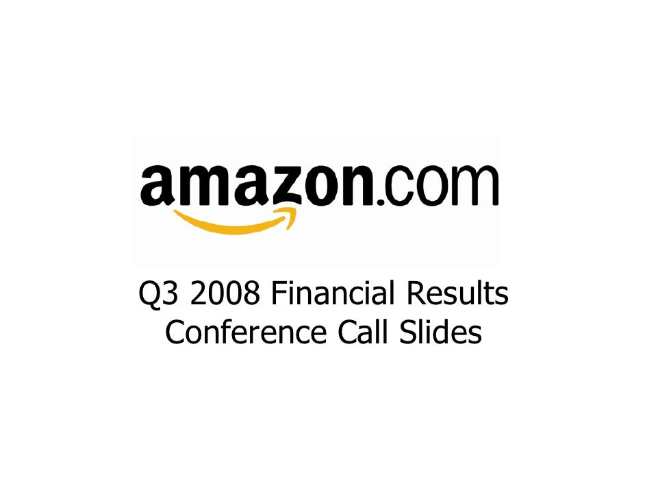 Amazon Q3 2008 Earnings