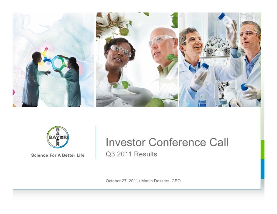 Bayer AG Q3 2011 Investor Conference Call
