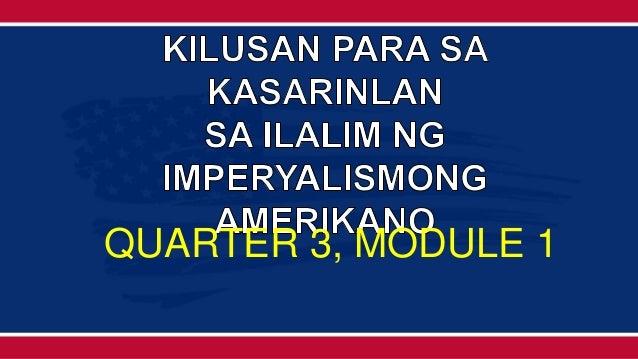 QUARTER 3, MODULE 1