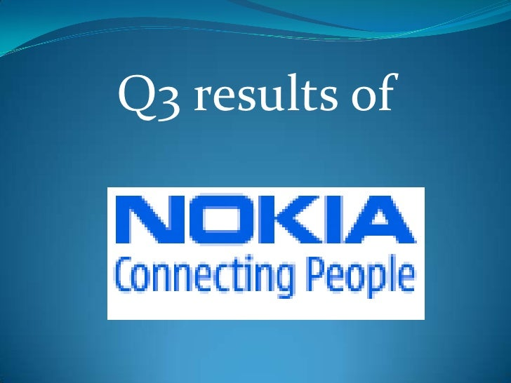 Q3 results Nokia