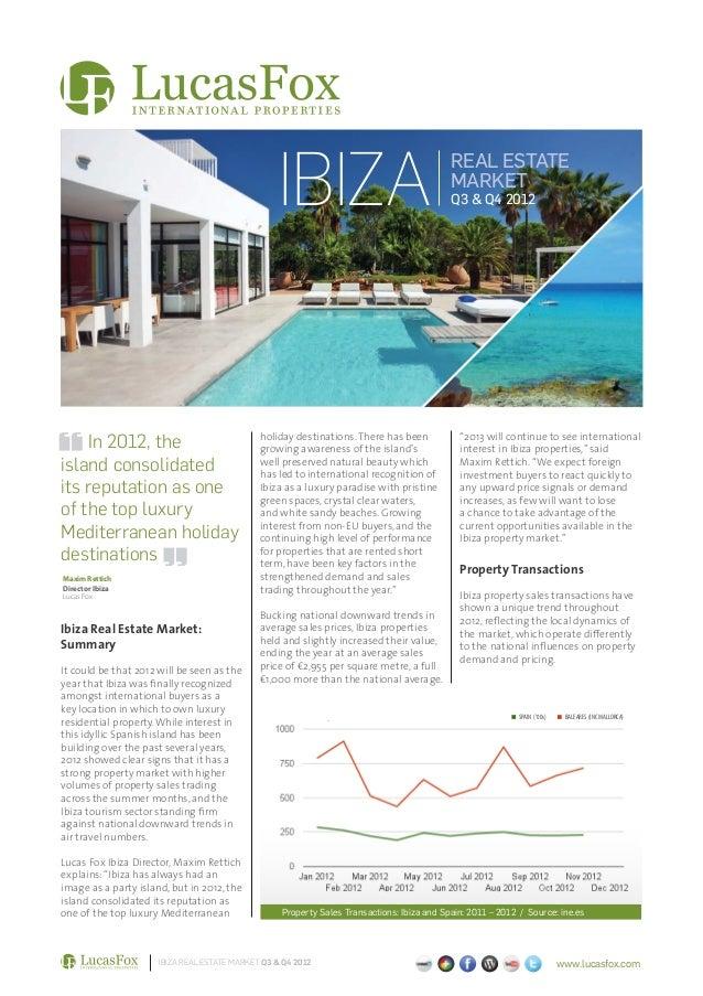 Ibiza Real Estate Market Report Q3-Q4 2012 ENG