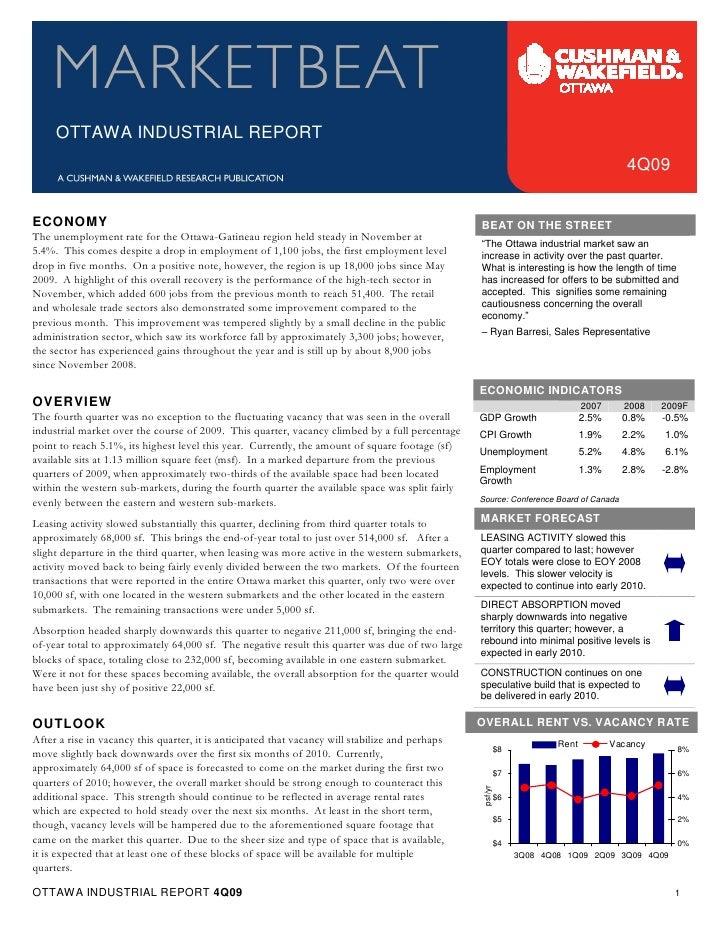 Q4 2009 Ottawa Industrial Marketbeat
