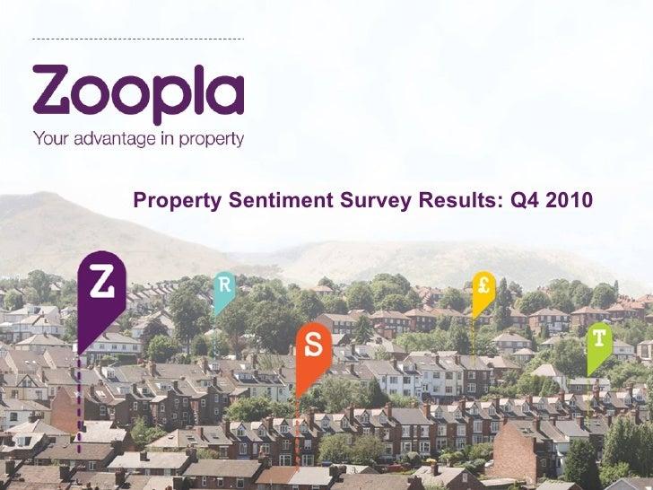 Zoopla.co.uk - Q4 2010 Sentiment Survey Results