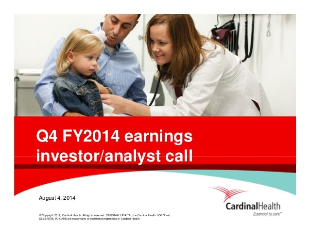 Q4 fy14 earnings presentation final schedules