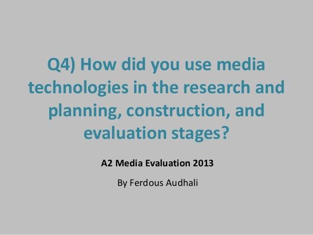 Evaluation Q4.