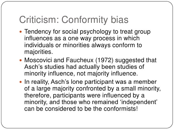 social influences on conformity I conformity ii motivation iii minority influence iv obedience to authority  social influence how individual behavior is influenced by other people and  groups.