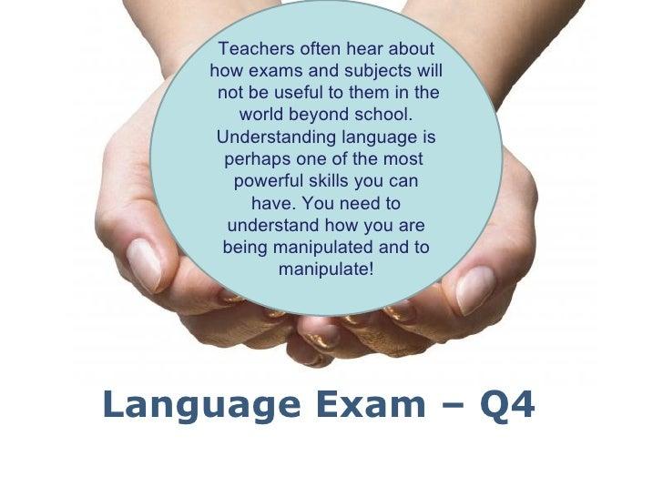 Q4 language exam - Higher