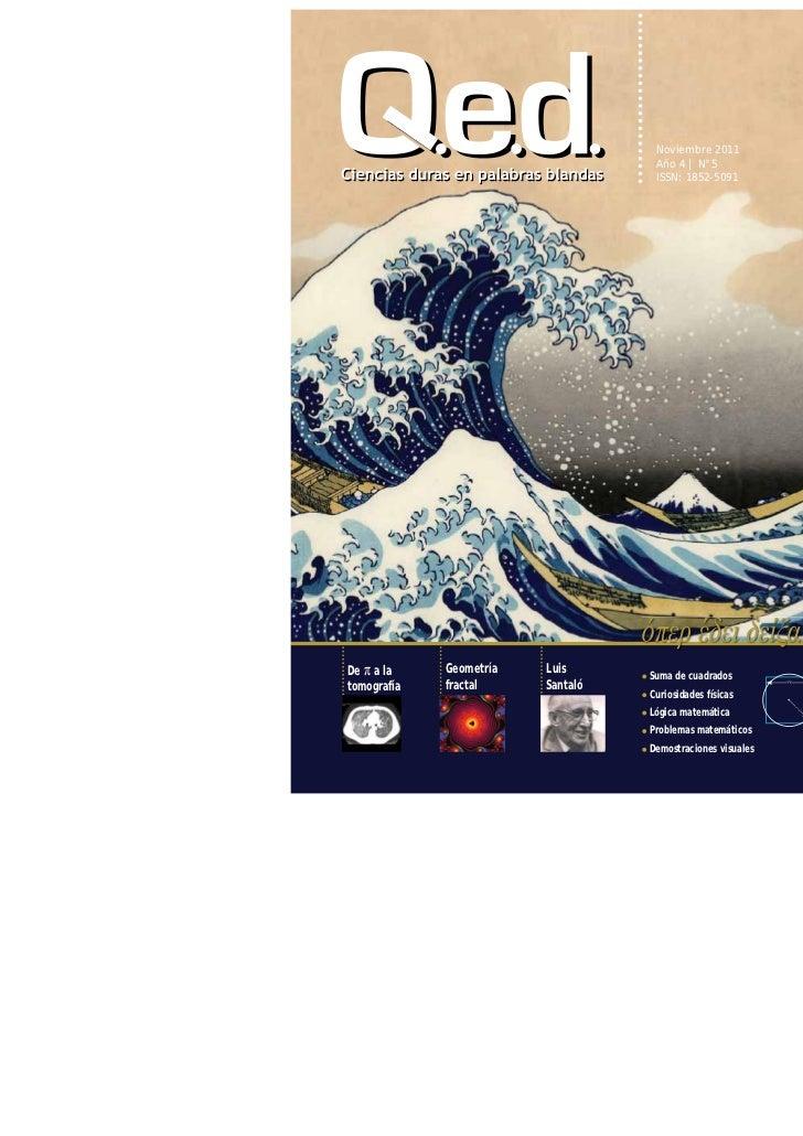 Noviembre 2011                                    Año 4 | N°5                                    ISSN: 1852-5091De π a la ...