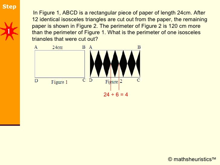 <ul><li>In Figure 1, ABCD is a rectangular piece of paper of length 24cm. After 12 identical isosceles triangles are cut o...