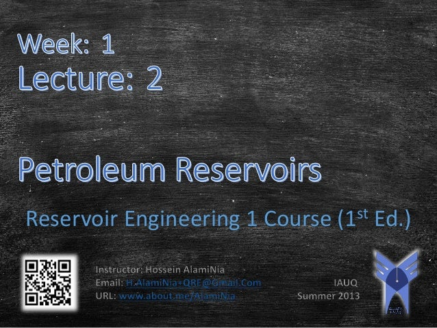 Reservoir Engineering 1 Course (1st Ed.)