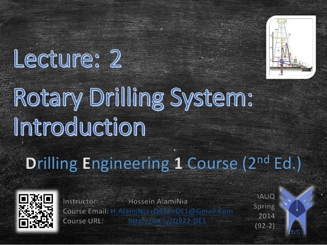 Drilling Engineering 1 Course (2nd Ed.)