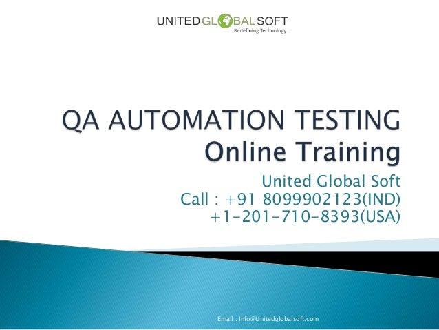 QA Automation testing online training