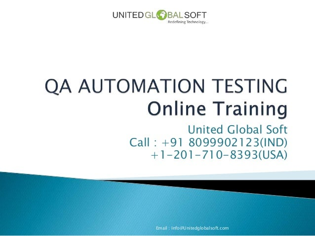 QA Automation Testing Online Training in India