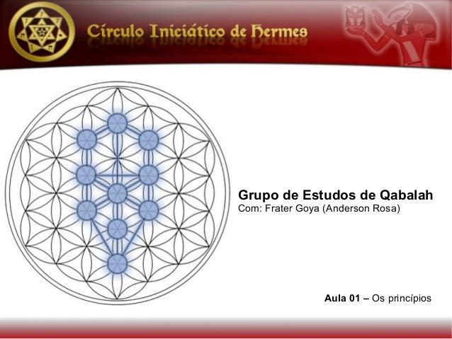 Grupo de Estudos de Qabalah Com: Frater Goya (Anderson Rosa) Aula 01 – Os princípios