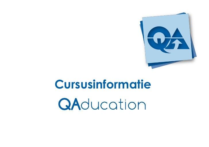 QAducation Cursusinformatie2012v2