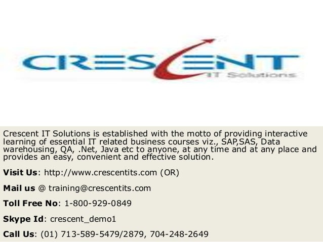Crescent IT Solutions Received Valuable Feedback on QA Course from one of the Student.