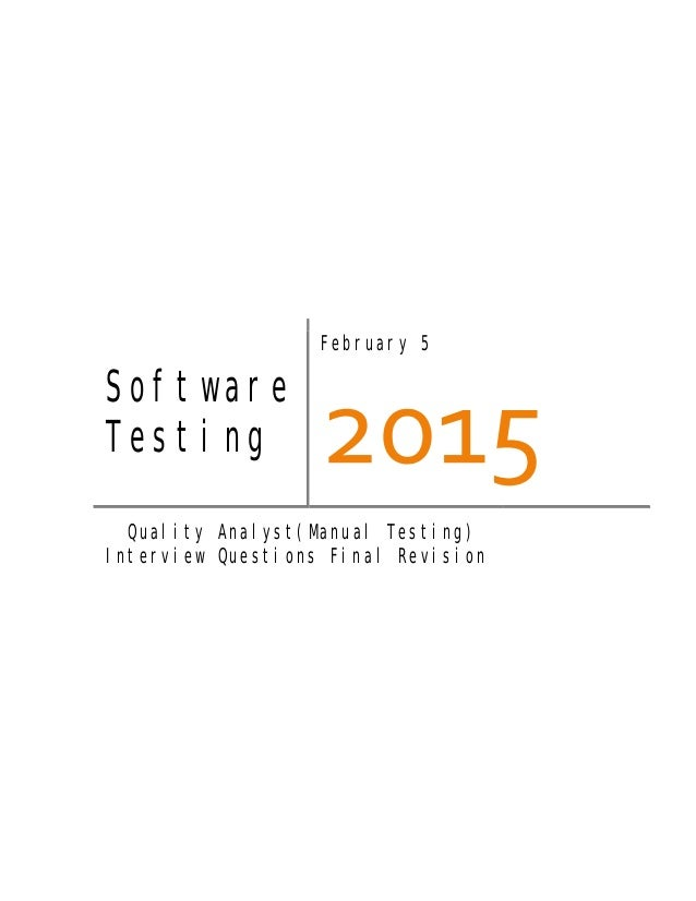software testing pdf interview question and answer