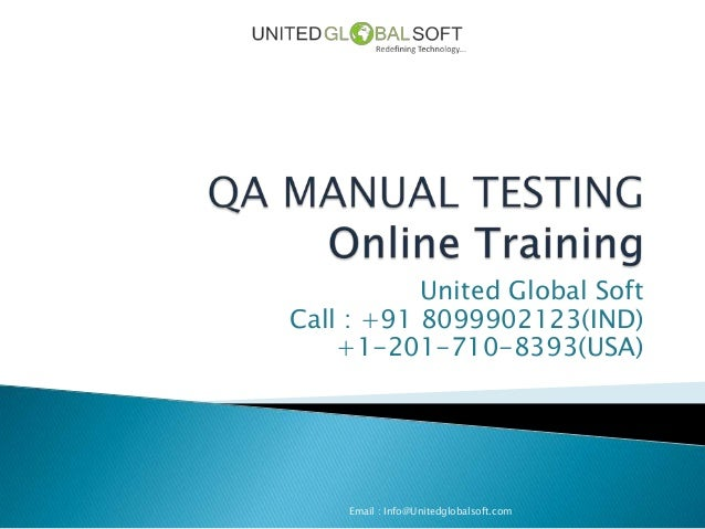 Qa Manual Testing Online  Training