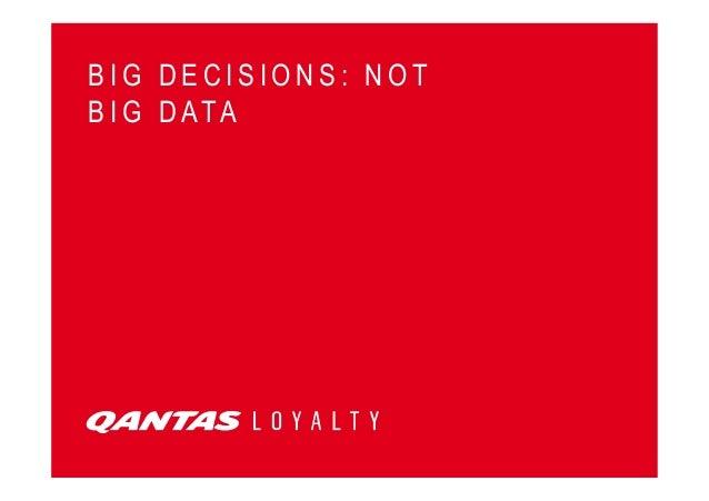 Comment les Big Data ont transformé Qantas Airlines - Keynote de Vaughan Chandler à Connect 2013